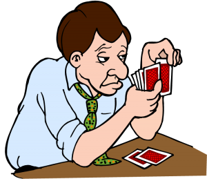 Man Learning the Rules of Poker