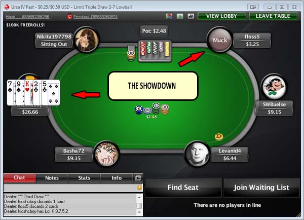Draw Poker Showdown